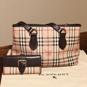 Burberry Haymarket check regent brown tote